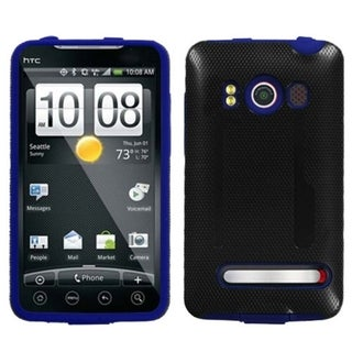 INSTEN Blue Inverse Fusion Phone Case Cover for HTC EVO 4G