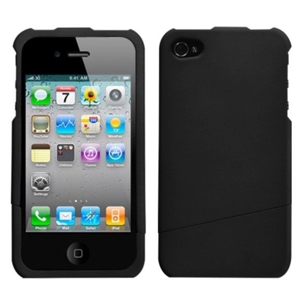 INSTEN Black/ Slash Phone Case Cover for Apple iPhone 4S/ 4