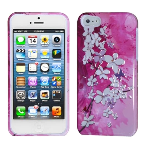INSTEN Blooming Flowers/ Sense Phone Case Cover for Apple iPhone 5