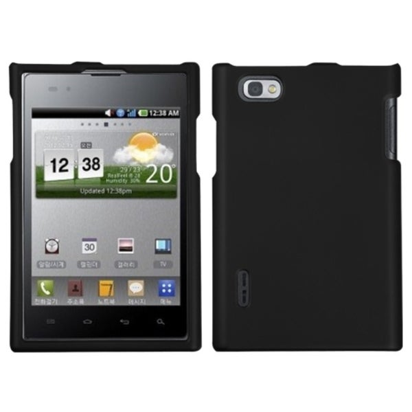 INSTEN Black Phone Case Cover for LG VS950 Optimus Vu