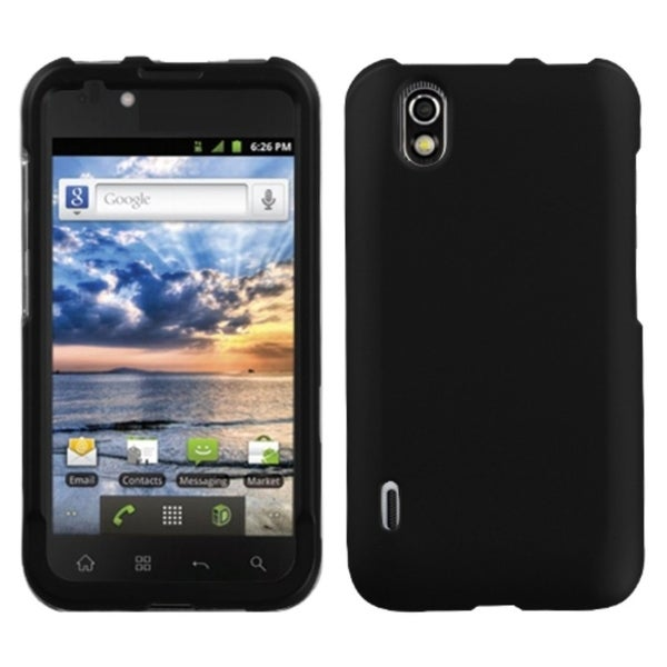 INSTEN Black Phone Case Cover for LG LS855 Marquee