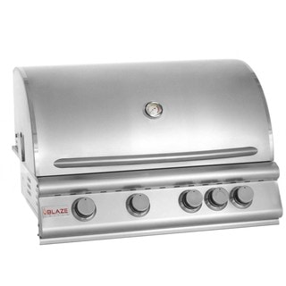 Blaze 32-inch 4-burner Built-in Natural Gas Grill with Rear Infrared Burner