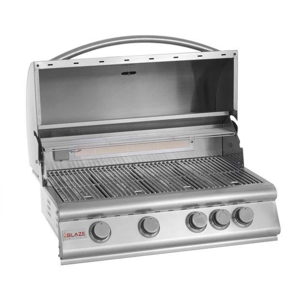 Blaze 32-inch 4-burner Built-in Natural Gas Grill with Rear ...