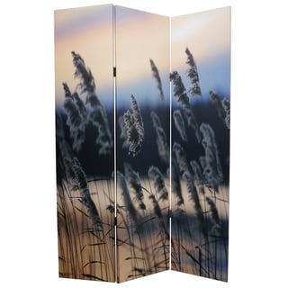Whisper Reed 3-Panel Canvas Screen
