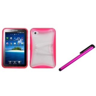 INSTEN T-Clear Pink Tablet Case Cover/ Pink Stylus for Samsung Galaxy Tab P1000
