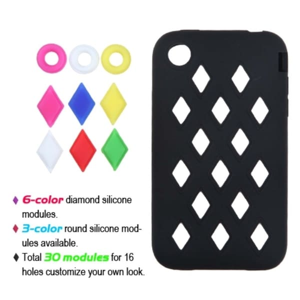 INSTEN Black Module Skin Phone Case Cover for Apple iPhone 3GS/ 3G