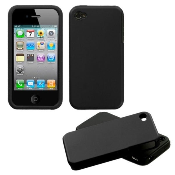 INSTEN Black Fusion Phone Case Cover for Apple iPhone 4S/ 4