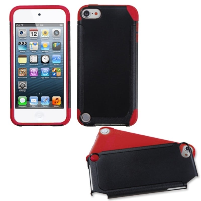 Black//White Frosted Fusion Case Cover For Apple iPod touch 4th generation