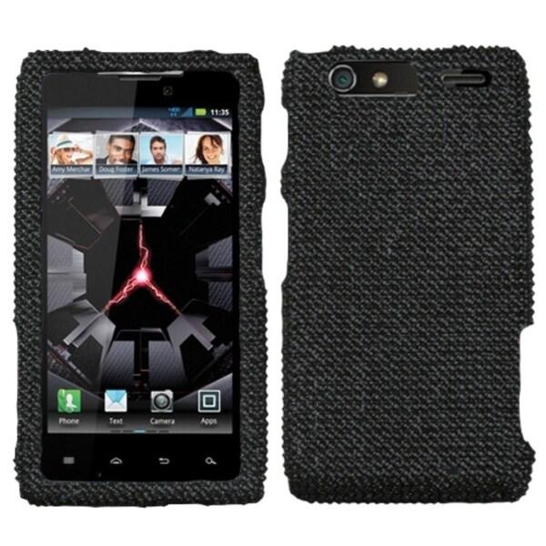 INSTEN Black/ Diamante Phone Case Cover for Motorola XT912M Droid Razr Maxx
