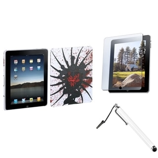 INSTEN Stylus/ Screen Protector/ Lizzo Back Tablet Case Cover for Apple iPad 1