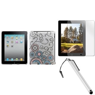 INSTEN Stylus/ Protector/ Tablet Case Cover for Apple iPad 2/ 3/ 4/ New/ Retina
