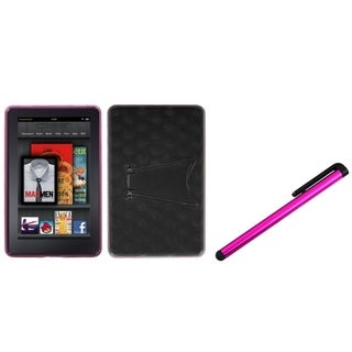 INSTEN T-Clear Pink Phone Case Cover/ Pink Stylus for Amazon Kindle Fire