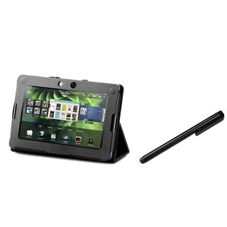 INSTEN Black Phone Case Cover/ Black Stylus for Blackberry Playbook