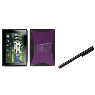 INSTEN T-Clear Pink/ Black Phone Case Cover/ Black Stylus for Blackberry Playbook