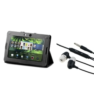 INSTEN Black Phone Case Cover/ Hands-free Headset for Blackberry Playbook