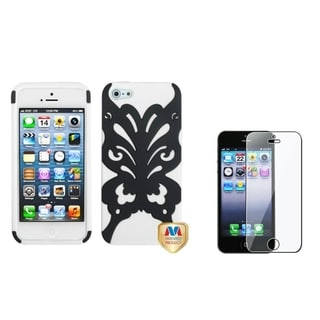 INSTEN Butterflykiss Phone Case/ Screen Protector for Apple iPhone 5/ 5C/ 5S/ SE