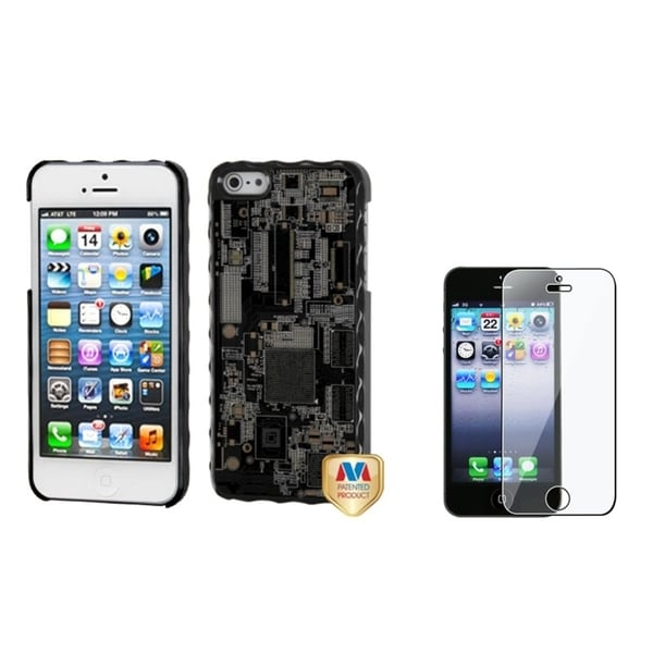 BasAcc Circuit Board Case/ Screen Protector for Apple iPhone 5