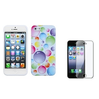 INSTEN Rainbow Bubbles Phone Case/ Screen Protector for Apple iPhone 5/ 5C/ 5S/ SE