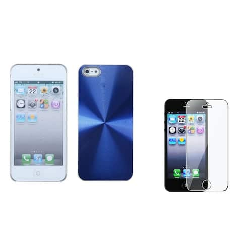 INSTEN Blue Cosmo Phone Case/ Screen Protector for Apple iPhone 5/ 5C/ 5S/ SE
