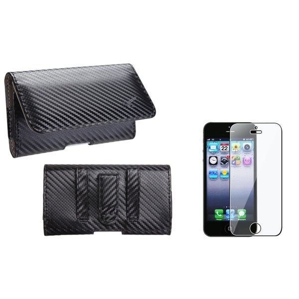 INSTEN Pouch-style Phone Case/ Screen Protector for Apple iPhone 5/ 5C/ 5S/ SE
