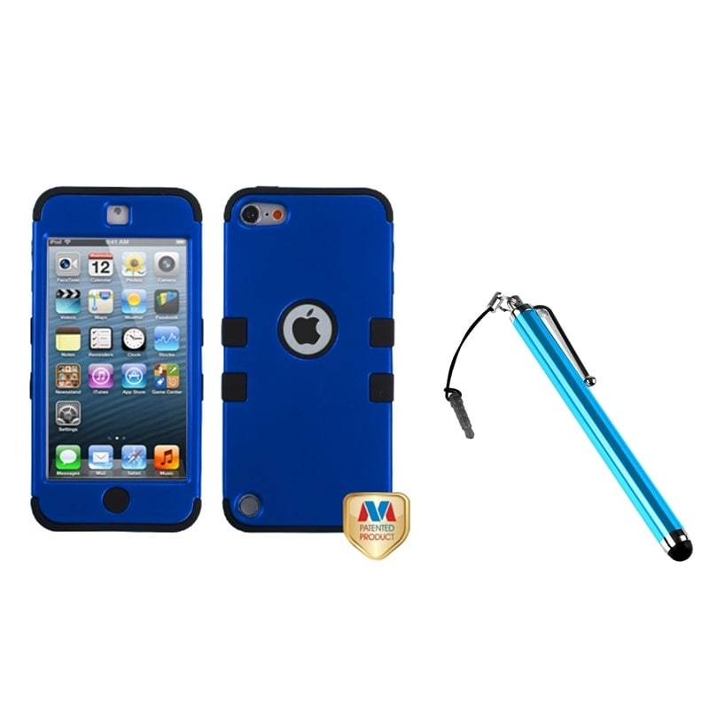 Apple iPod Touch 5 SNAP-ON COVER HARD CASE PHONE ACCESSORY TITANIUM BLUE