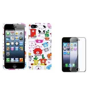 INSTEN Dog Lifestyle Phone Case/ Screen Protector for Apple iPhone 5/ 5C/ 5S/ SE