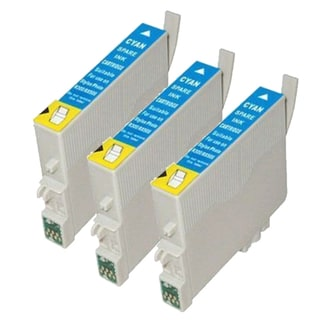 Epson T078220 (T0782) Cyan Remanufactured Ink Cartridge (Pack of 3)