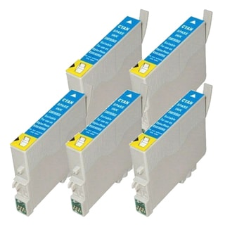 Epson T078220 (T0782) Cyan Remanufactured Ink Cartridge (Pack of 5)