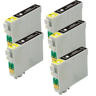 Epson T078120 (T0781) Black Remanufactured Ink Cartridge (Pack of 5)