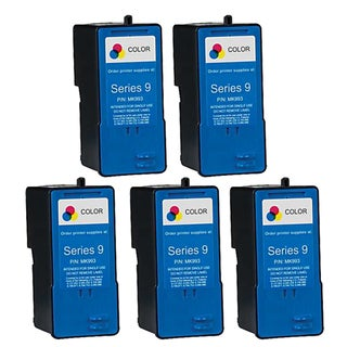 Remanufactured Dell MK993 Series 9 High Capacity Color Ink Cartridges (Pack of 5)