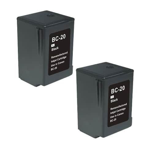 Canon BC20 Black Remanufactured Inkjet Cartridge (Pack of 2)
