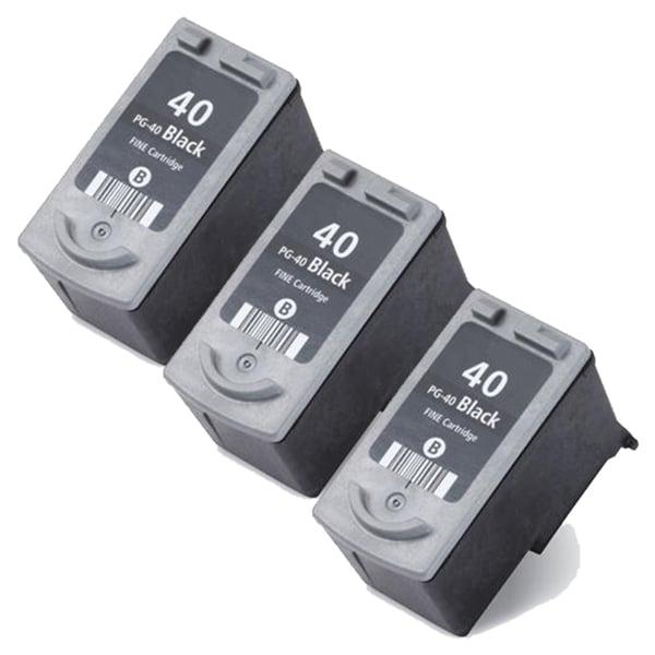 Canon PG40 Black Remanufactured Inkjet Cartridge (Pack of 3)