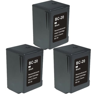 Canon BC20 Black Remanufactured Inkjet Cartridge (Pack of 3)