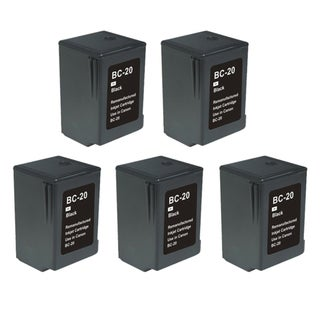 Canon BC20 Black Remanufactured Inkjet Cartridge (Pack of 5)