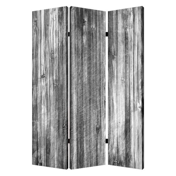 Distressed 3-Panel Wood Screen