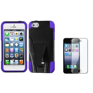 INSTEN Inverse Purple Phone Case Cover/ LCD Protector for Apple iPhone 5/ 5C/ 5S/ SE