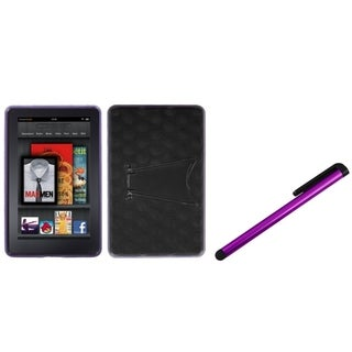INSTEN T-Clear Purple Phone Case Cover/ Purple Stylus for Amazon Kindle Fire