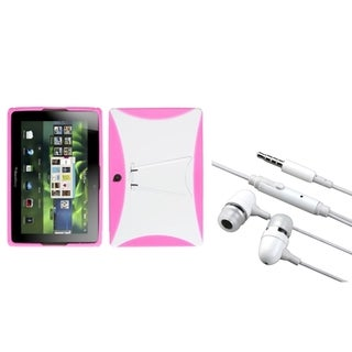 INSTEN White/ Pink Phone Case Cover/ Hands-free Headset for Blackberry Playbook