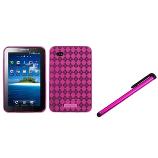INSTEN Hot Pink Tablet Case Cover/ Pink Stylus for Samsung Galaxy Tab P1000