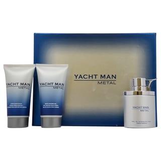 Myrurgia Yacht Man Metal Men's 3-piece Fragrance Gift Set