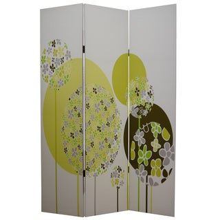 Floral Buds 3-Panel Canvas Screen