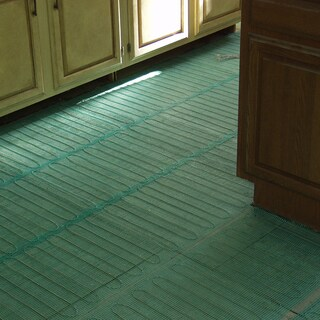 WarmlyYours 73.5 Sq.ft 240 Volts Electric Floor Heating Easy Mat - For under tile, stone, hardwood and LVT flooring
