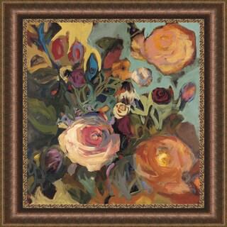 Jennifer Harwood 'Rose Garden II' Framed Print