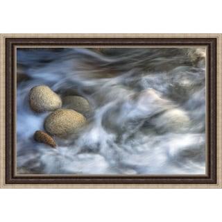 Xavier Ortega 'Stones and Waves' Framed Print