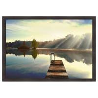 Irene Weisz 'On Juniper Lake' Framed Artwork - Blue