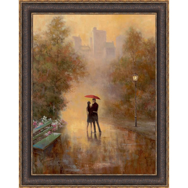 Framecrafters T.C. Chiu 'Walk In The Park I' Framed Artwo...