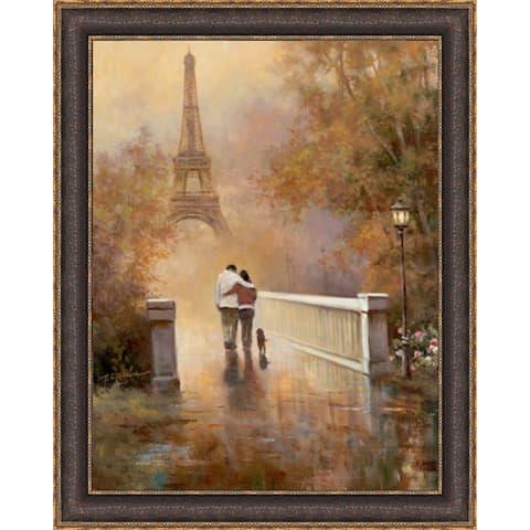 T.C. Chiu 'Walk in The Park II' Framed Artwork