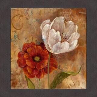 Carol Robinson 'Flower Duet I' Framed Artwork
