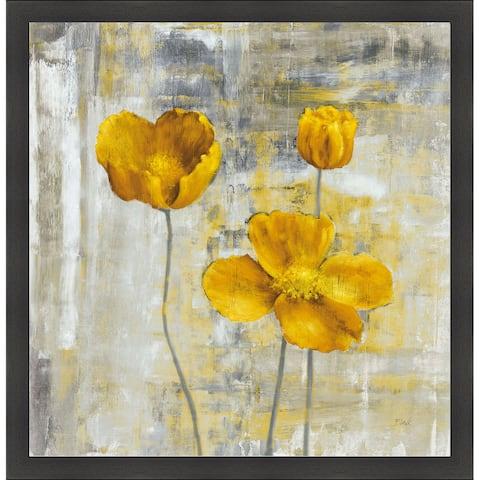 Carol Black 'Yellow Flowers II' Framed Artwork - Yellow