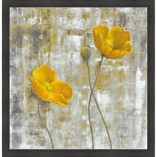 Carol Black 'Yellow Flowers I' Framed Artwork